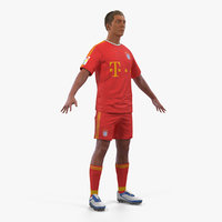 3D soccer football player bayern model