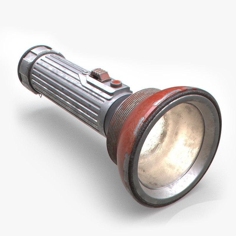 flashlight arnold 3D model