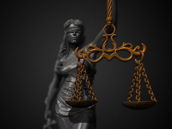 themis justice sculpture 3D model