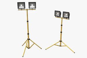 3D model led work light stand