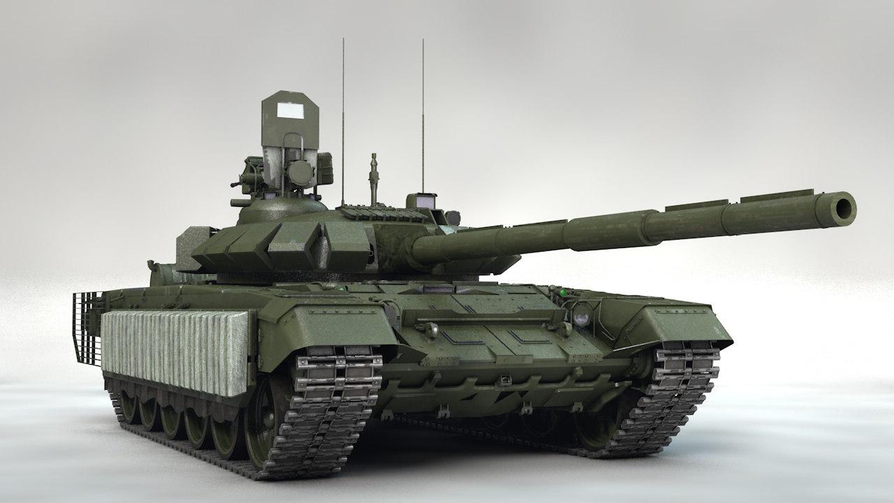 3D main battle tank