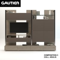 3D tv stand furniture gautier
