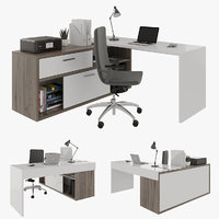 office desk with decoration