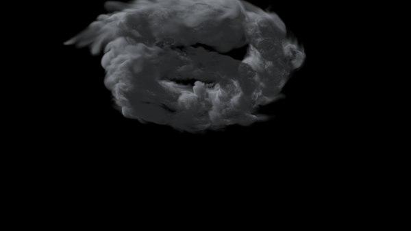 swirly clouds menacing 3D model