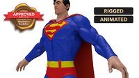 super man character 3D