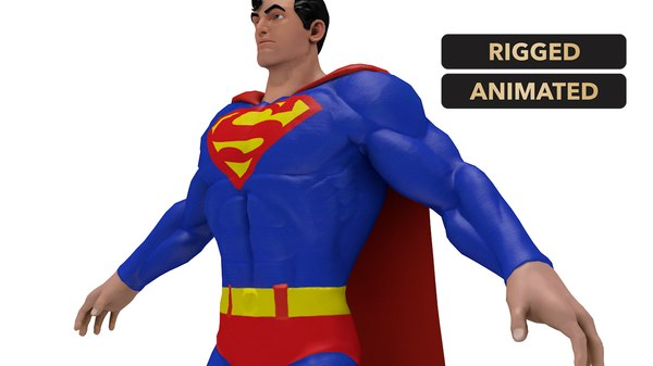super man character 3D