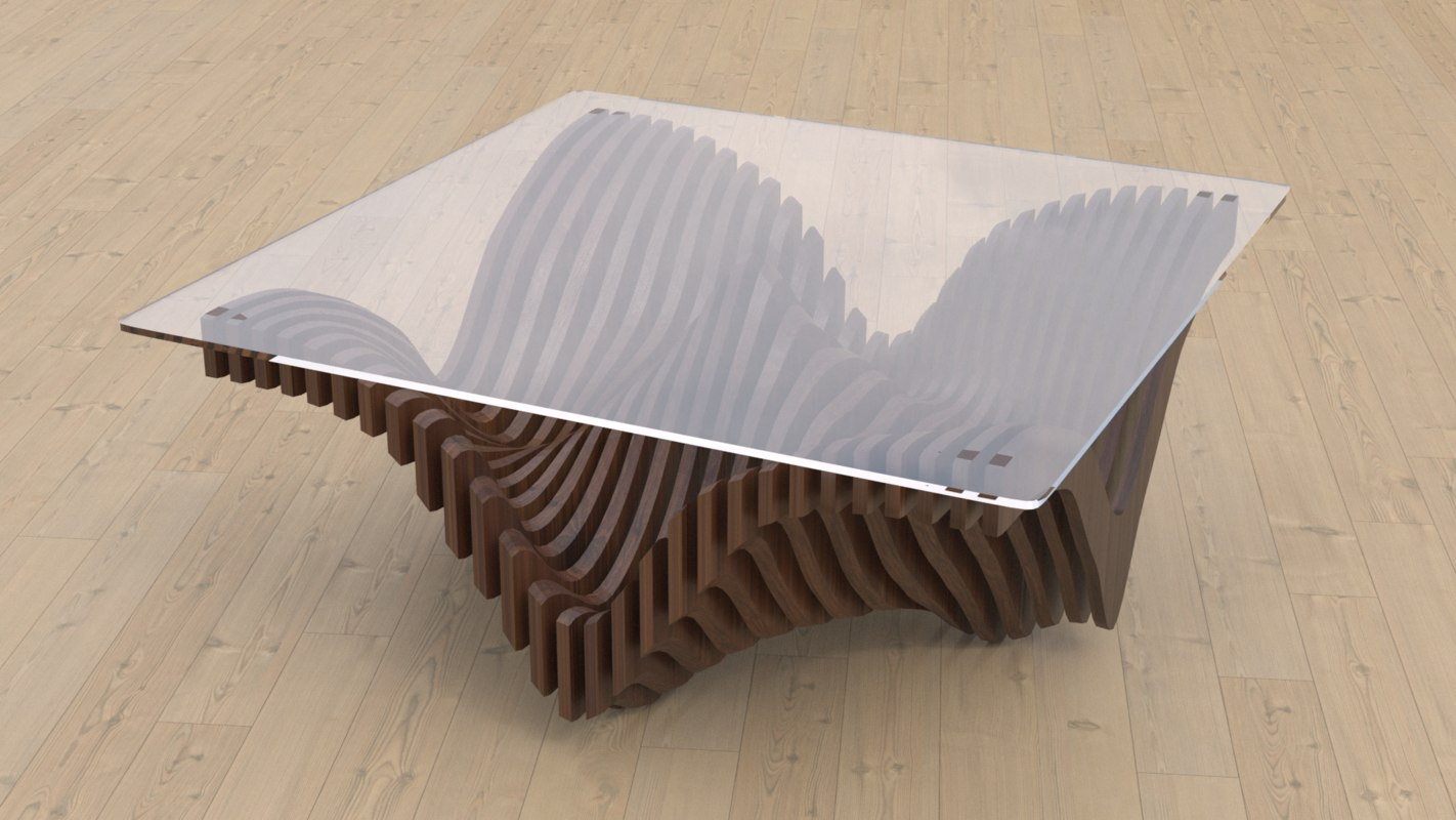 parametric table 3D model
