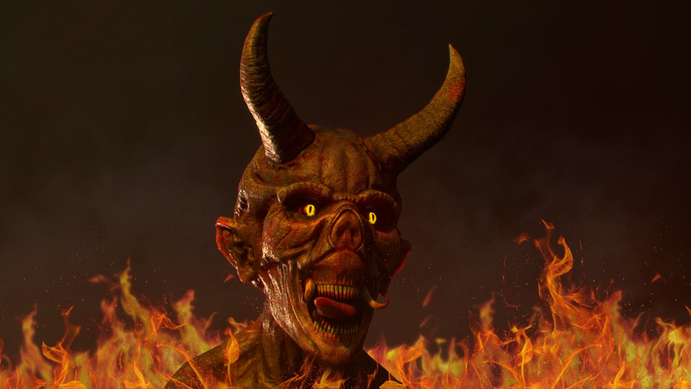 3D bust devil