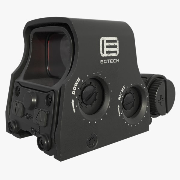 holographic weapon sight 3D model