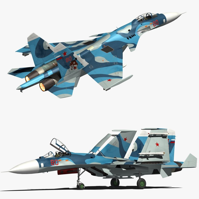 3D sukhoi naval flanker model