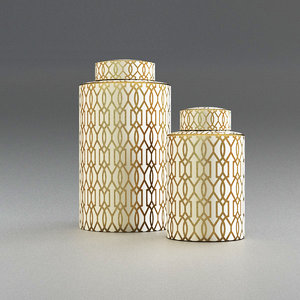 3D decorative canisters