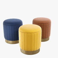 Stool Allegra 3 colors Eichholtz