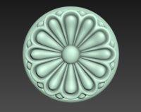 carved rosette model