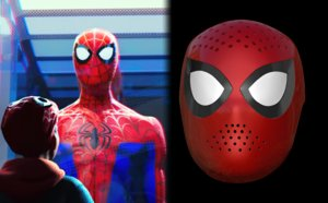 3D faceshell lenses spider-man spider-verse model