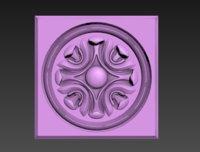 3D carved rosette