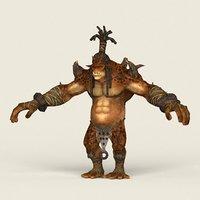 3D ready fantasy hunter model