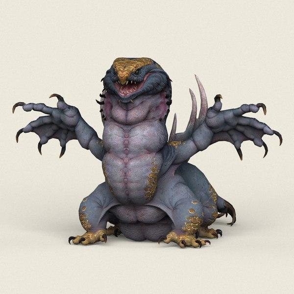 ready fantasy monster 3D model