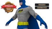3D bat man character