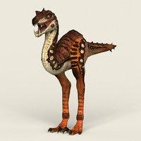3D ready fantasy velociraptor model