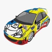 3D model rally car