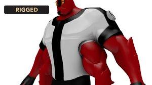 3D arms ben 10 model