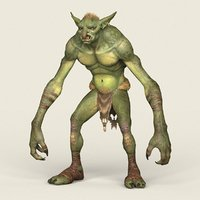 3D model ready goblin monster