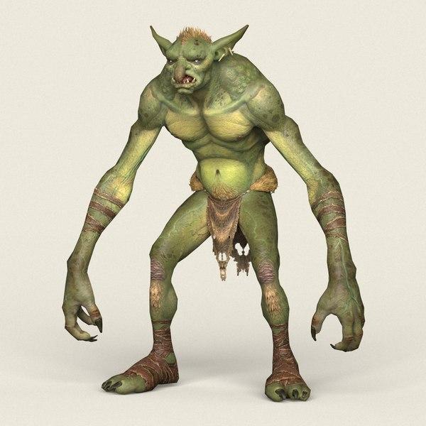 3D model ready goblin monster