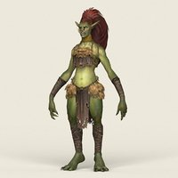 3D ready fantasy female goblin monster