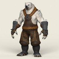 ready fantasy warrior bear model