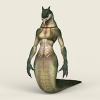 Game Ready Fantasy Female Cobra