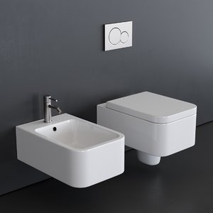 3D wall-hung toilet 8301 bidet