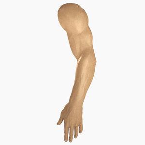 3D male arm model