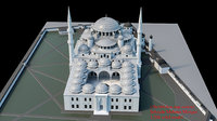 mehmet mosque 3D model