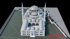 mehmet mosque 3D model