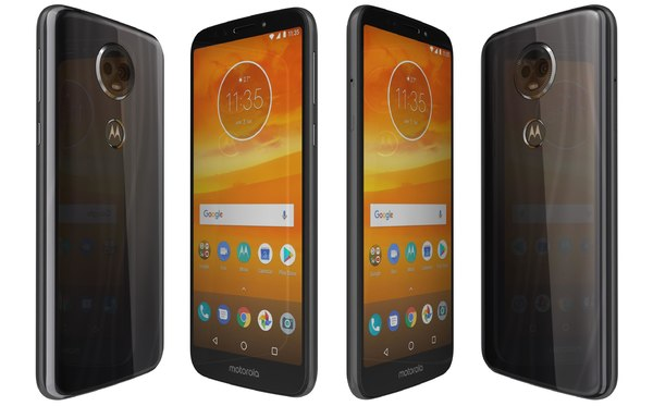 motorola moto e5 black 3D model
