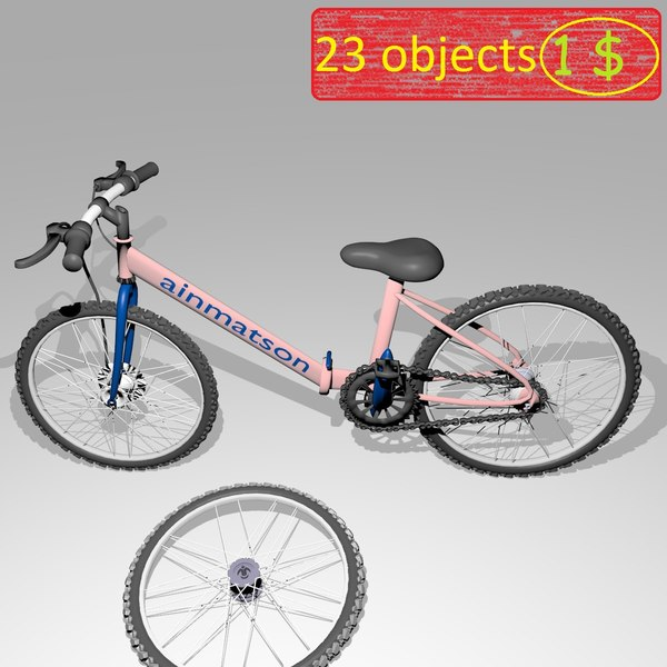bicycle 23 objects 3D model