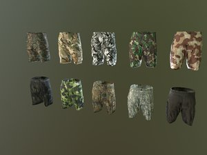 camouflage pbr 3D