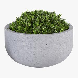 3D pots city bowl m