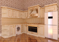3D classic kitchen kitche