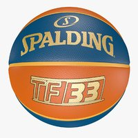 3D Spalding Ball TF-33 Gold - Basketball
