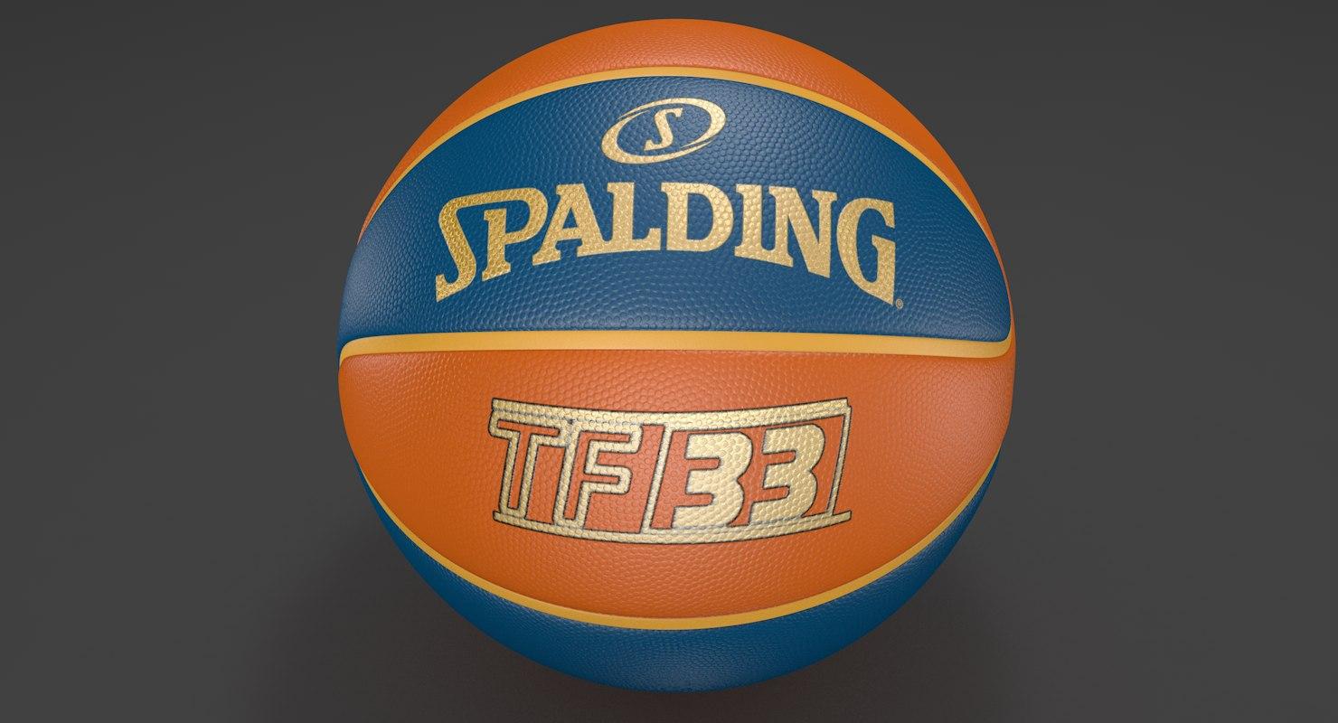 basketball modeled 3D model