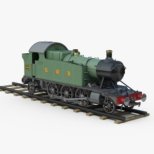 great steam locomotive 3D model