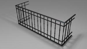 3D model railing - balcony