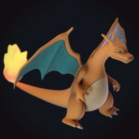 3D charizard pokemon