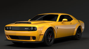 3D hennessey dodge challenger srt model