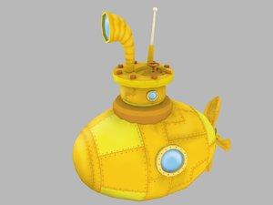 stylized submarine model
