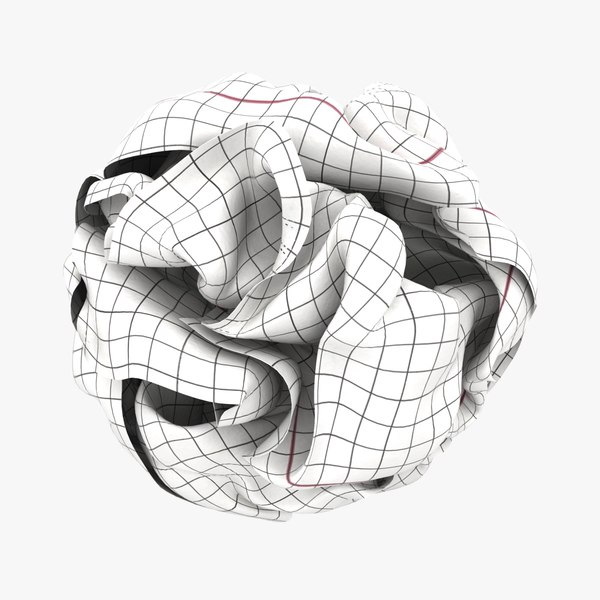 3D graph paper ball white model
