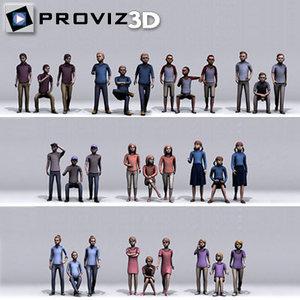 people: children 3D model