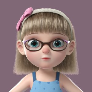girl cartoon 3D