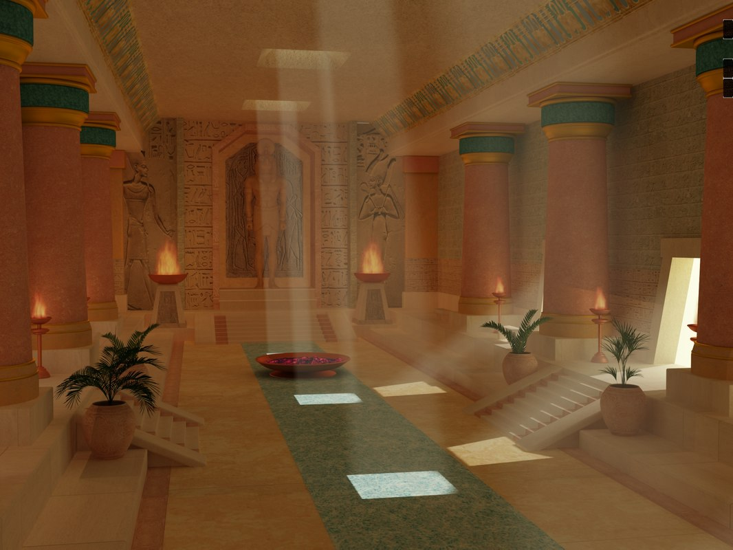 interior temple 3D model